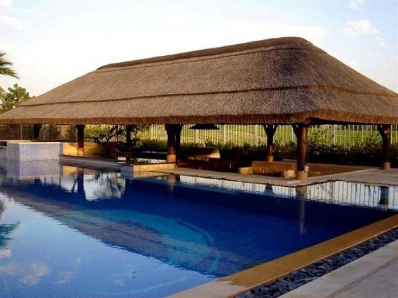 P rgolas de junco africano for Pergolas para piscinas