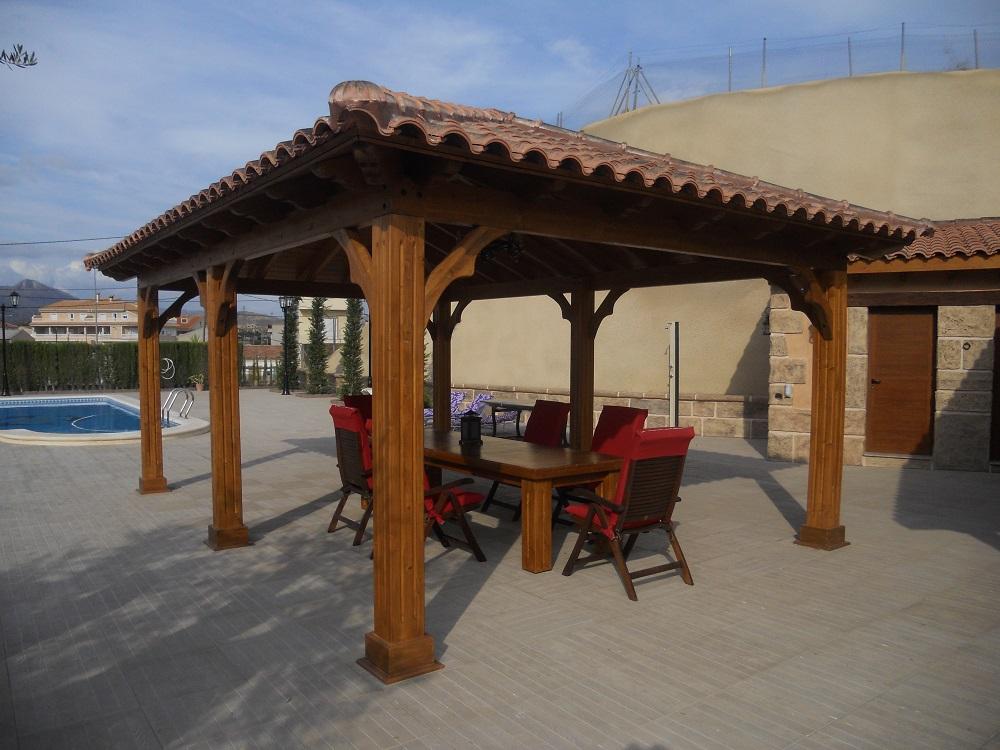 Construir pergola de madera prgolas de madera with construir pergola de madera interesting - Construir pergola de madera ...