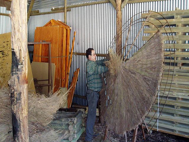 Sombrilla de brezo brezo natural brezo cosido a mano - Sombrilla de mano ...