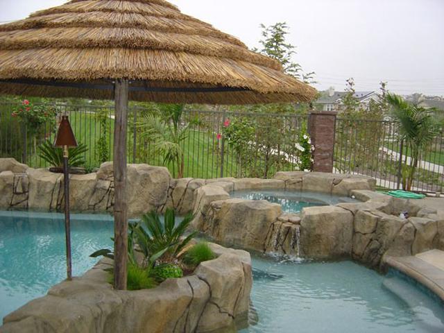 Somrilla junco africano africano terraza junco africano for Sombrillas para piscinas